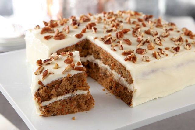 As in all good carrot cakes, fresh veggies balance the sweet cream cheese frosting. The bonus in the shortcut is the time you get back in your day.