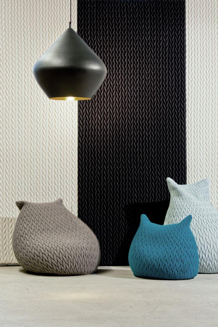 Architextiles & Slumber poufs by Casalis