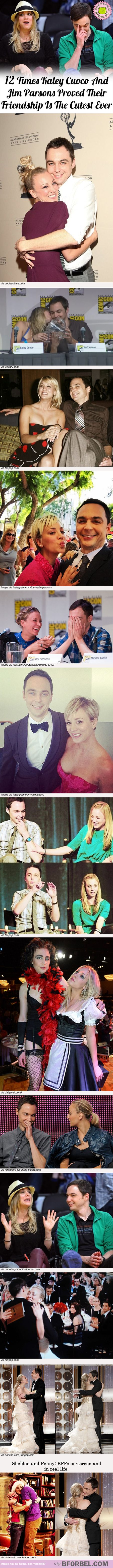 12 Time Kaley Cuoco And Jim Parsons Proved Their Friendship Is The Cutest Ever...