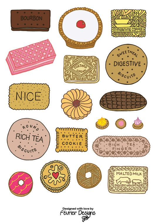 Great British Biscuits Card by FevrierDesigns on Etsy
