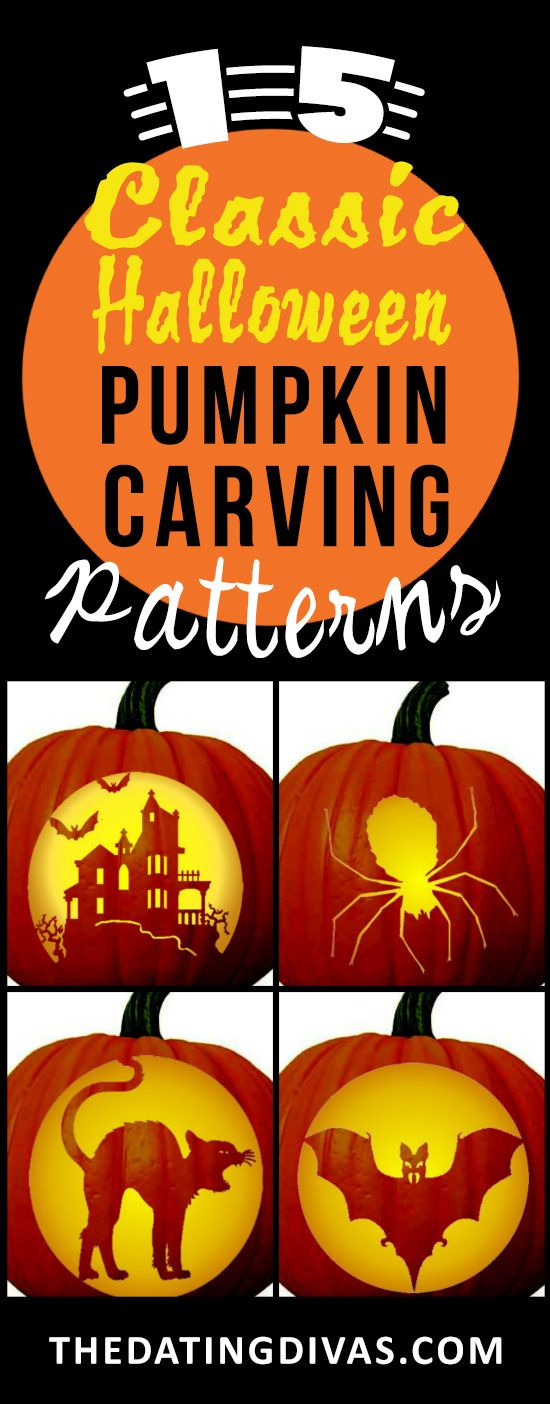 Can't wait to use some of the classic pumpkin carving patterns! www.TheDatingDivas.com