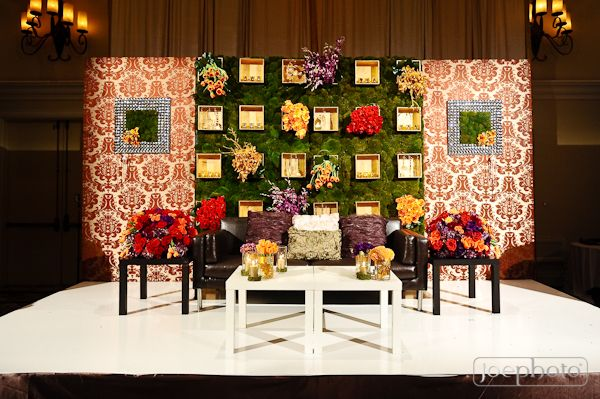 centerpieces, orange, purple, red, rose, backdrops, Floral, green, rustic, shabby chic, black, couches, furniture, south asian, cultural, California