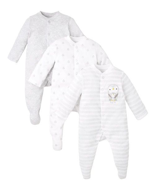 Penguin Sleepsuits - 3 Pack http://www.parentideal.co.uk/mothercare---baby-clothes.html