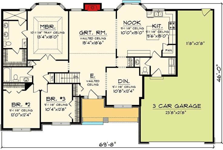 Plan 89848ah affordable ranch home plan bath buns bath for Affordable 5 bedroom house plans