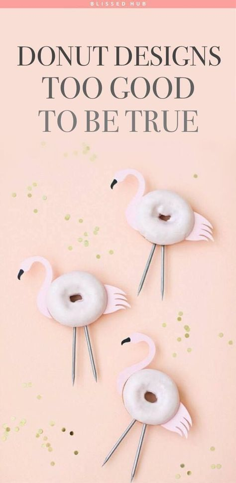 26 Adorable Donut Designs! | dessert ideas - recipes for desserts - animal shaped donuts - cake recipes
