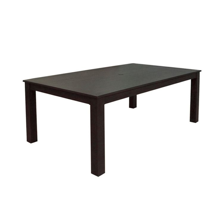 Allen + Roth Dellinger Brown Rectangle Patio Dining Table 1121