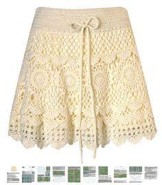 Mini skirt crochet PATTERN boho crochet skirt por FavoritePATTERNs