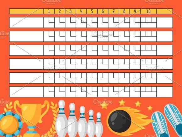 Bowling Score Sheets Diy Bowling Bowling Scoreboard