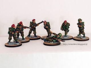 WW2 Red Devils Artizan British Paratroopers - 28mm ~ Enionline Alternative Worlds #ww2 #british #paratroopers #reddevil #28mm #miniature #painting #para