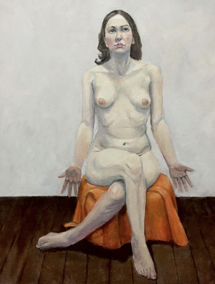Ari, by Don Macfarlane. Oil on canvas, 61cm x 77cm (unframed). From N U D E W E R K S at Atelier451 (April 24 - May 15, 2016) www.atelier451.com.au/n_u_d_e_w_e_r_k_s  #oilpainting #female #nude #nudewerks #donmacfarlane #atelier451 #ormond