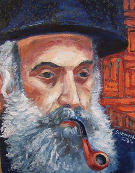 Imre Karrus Szekeres: Tradition - 2011. 60 x 40 cm, 23.6 x 15.75 inch Oil, wood-fibre