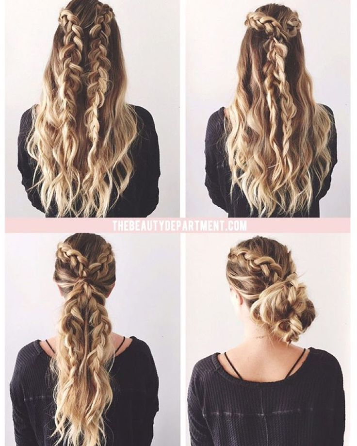 "If you're always running late, you need to know about ""2 braids, 3 ways"" Might be our easiest tutorial yet! Post is up and the link is up top! {tutorial by @kristin_ess}"