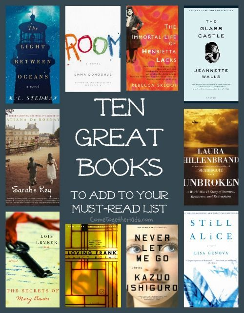 10 great books - book club suggestions, great books, book club ideas