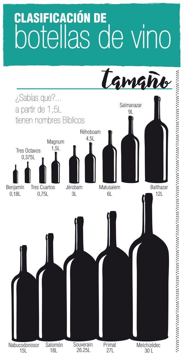Existen diferentes tipos de botellas de vino según su forma, tamaño y color. Antiguamente se conservaba esta bebida en ánforas de barro, barriles de madera o incluso tripas de animales pero a parti…