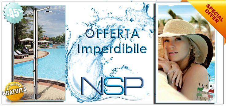 Cogli l'occasione! Un'elegante #doccia di design da montare nei pressi della tua #piscina o in #spiaggia. Consegna #gratis in tutta Italia.Offerta valida fino ad esaurimento scorte. Solo su: http://nonsolopiscine.it/docce-luxury/419-doccia-nettuno.html