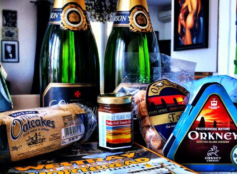 Lots of Food, Wine & Guests! Bringing Orkney delicacies to the South of France
