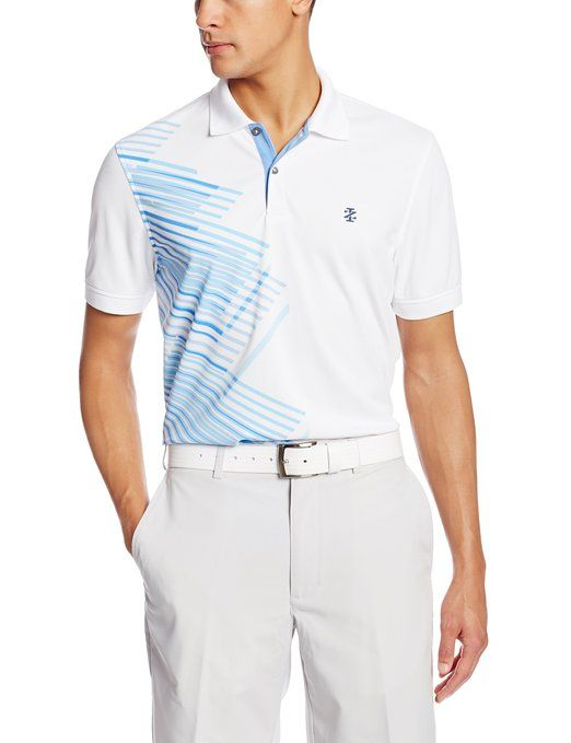 This smart casual looking mens short sleeve graphic print for Sun protection golf shirts