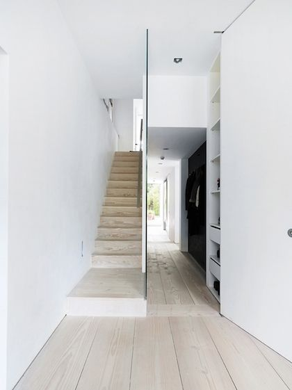 glass wall + dinesen floors