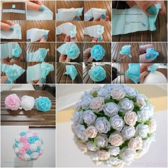 How to DIY Beautiful Crepe Paper Flower Ball thumb