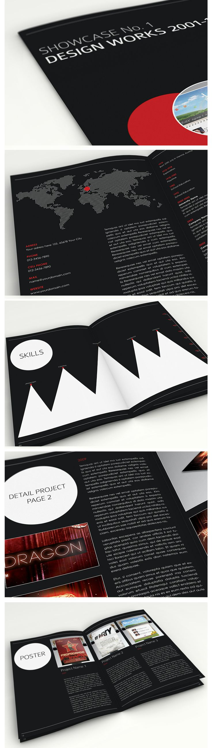 Showcase No. 1 - Brochure & Book Template #brochure #editorial