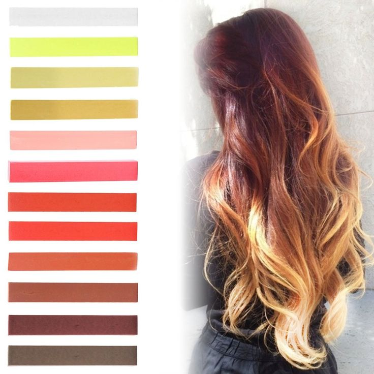 Caramel Blonde Ombre Hair Dye Set of 12 | Honey Blonde Red Ombre Hair Set | MAROON Color Temporary Vibrant Hair Dye | with Shades of White, Yellow, Red, Orange and Brown | Pastel Set of 12 Temporary Vibrant Hair Dye | Color your Hair Caramel Brown Ombre in seconds with temporary HairChalk -- Find out more about the great product at the image link.