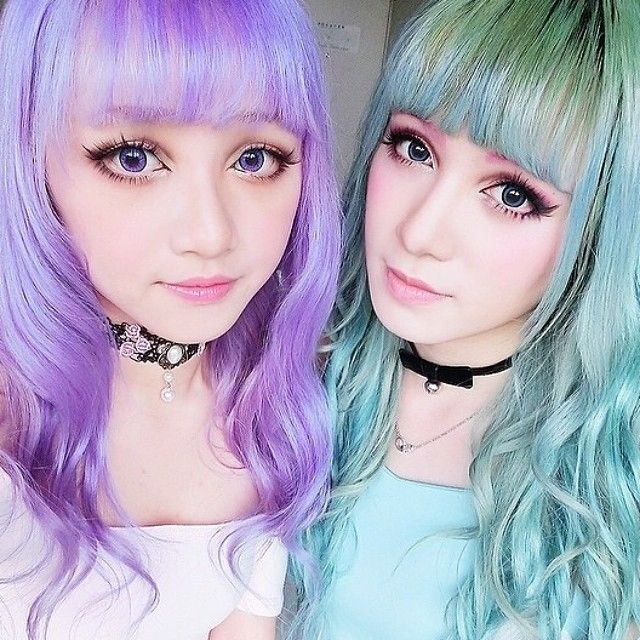 What's better than one girl using the Manic Panic Pastelizer? Two.