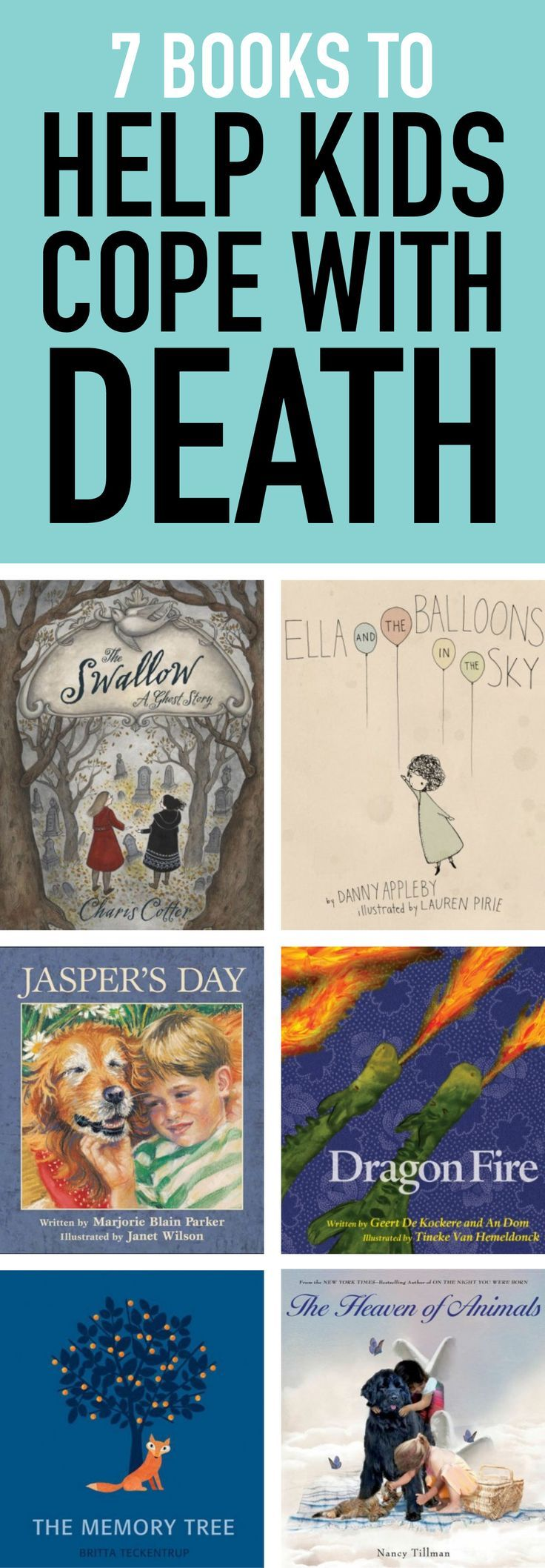 It can be difficult to find the right words when helping a child cope with the loss of a loved one. These books can help kids through the grieving process. #kidsbooks #books