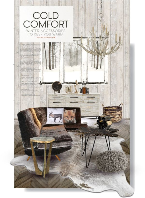 Cabin Living Room 5 By Natsuko333 On Polyvore Top Interior Design Looks Pinterest Room