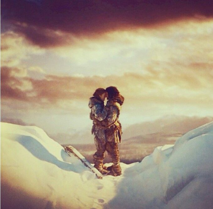 Ygritte and Jon - Game of Thrones the only real romance in game of thrones. I cried so hard.