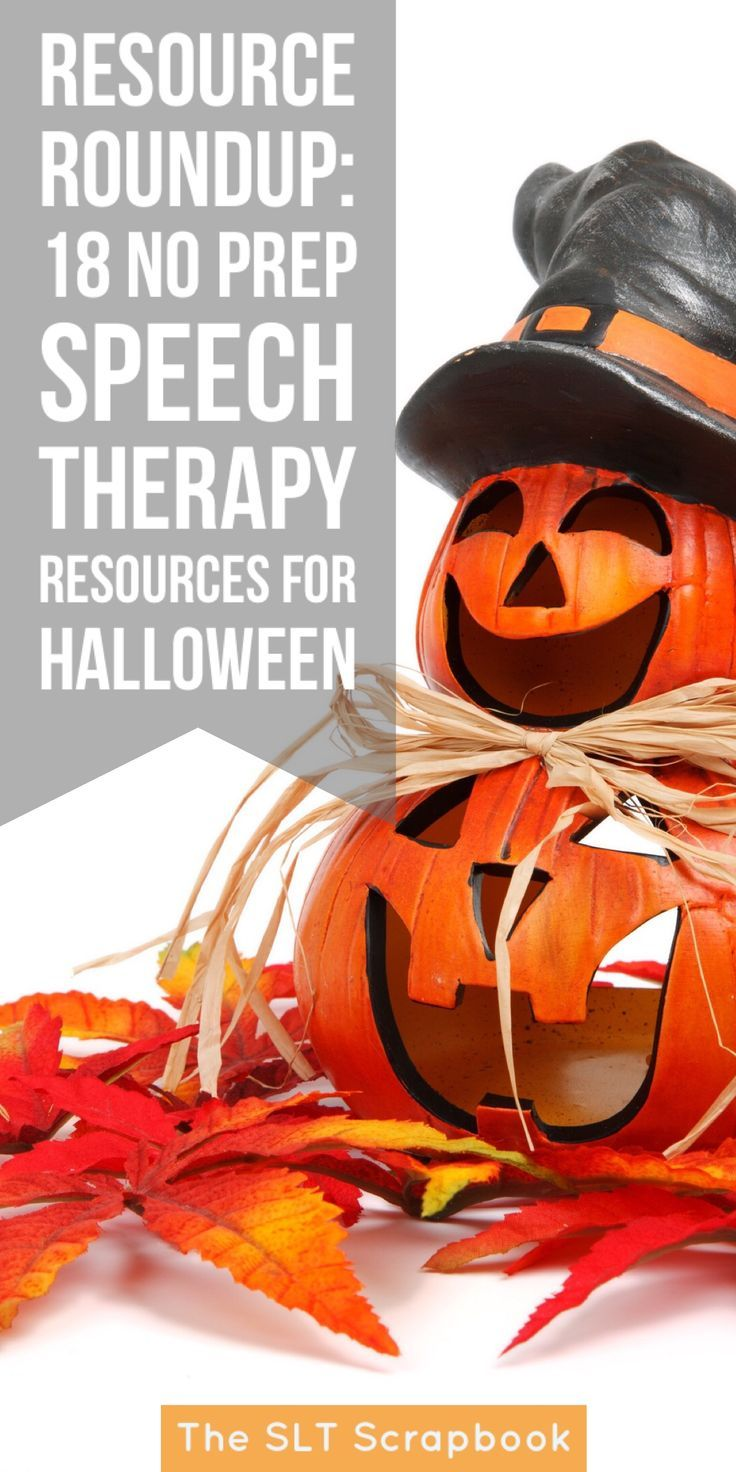Top 25 Ideas About Speech Language Halloween On Pinterest