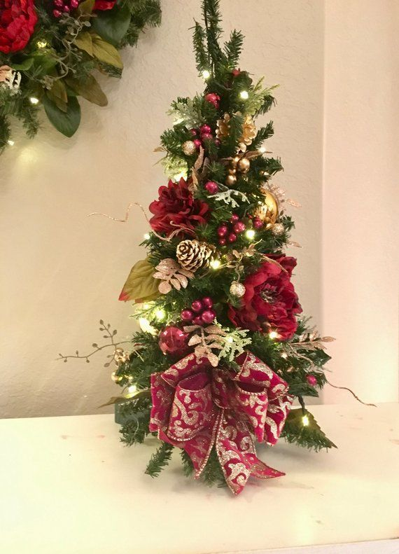 Free Shipping And Ship Within 24hours By Fedex Home Delivery You Still Have Time Christmas Topiary Tre With Images Christmas Topiary Christmas Floral Christmas Garland
