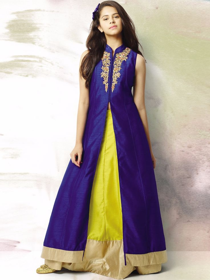 Shop G3 Exclusive yellow raw silk designer party wear lehenga choli online from G3fashion India. Brand - G3, Product code - G3-GCS0160, Price - 5995, Color - Blue, Yellow, Fabric - Raw Silk,