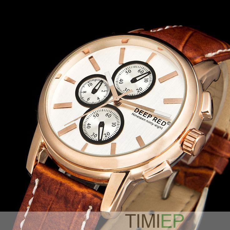 New Brown Leather Strap Watches Men Military Watches Army Watch Men Quartz Watch