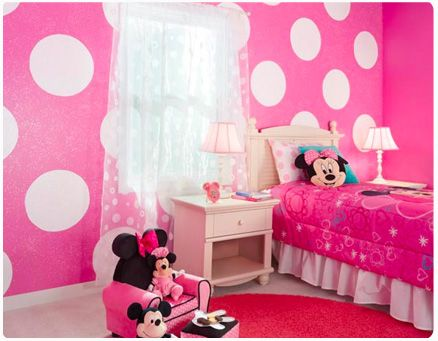 23 best images about minnie mouse baby room on pinterest disney paper chandelier and nursery - Mini mouse bedroom ...