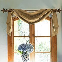 Burlap Scarf For A Valance Amy S Home Pinterest