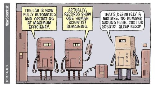 For New Scientist  #tomgauld #cartoon #robots #automation #science