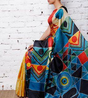 Hand Painted Pure Silk Saree