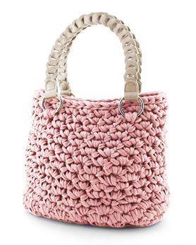 Hoooked Zpagetti Set Tasche Palermo pastel pink Mehr