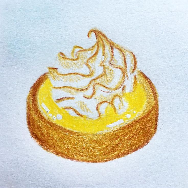 Rediscovering color pencils and having fun like a kid!! 🤗 #colorpencil #lemontart #tarteaucitron  #pastries #foodillustration #scandipan