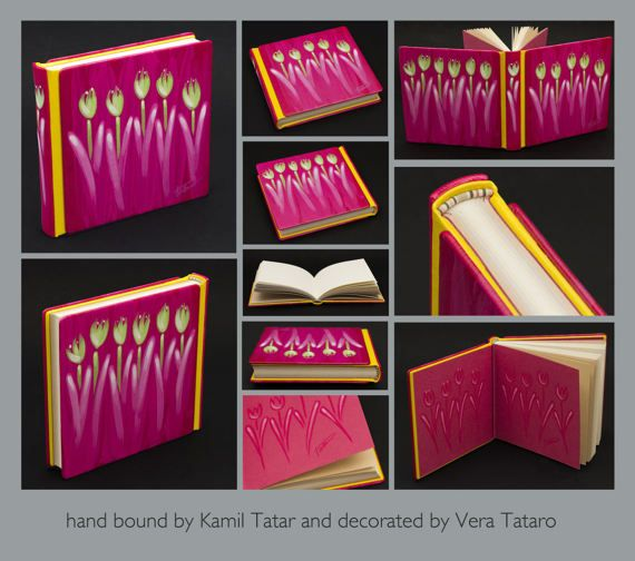 Art Book with tulips