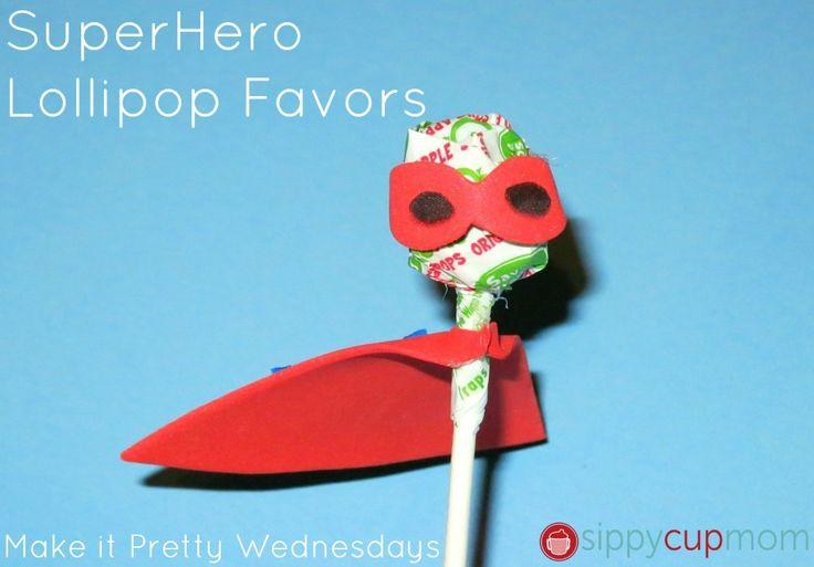 Make It Pretty Wednesdays Superhero Lollipop Party Favors