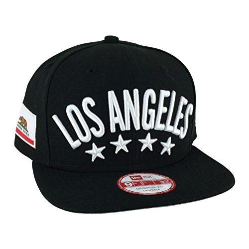 New Era Og Fits Los Angeles Flag Stated Black White Snapback Hat Cap x Dodgers Kings Lakers - http://weheartlakers.com/lakers-caps/new-era-og-fits-los-angeles-flag-stated-black-white-snapback-hat-cap-x-dodgers-kings-lakers