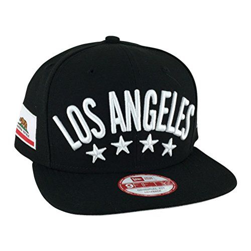 New Era Og Fits Los Angeles Flag Stated Black White Snapback Hat Cap x Dodgers Kings Lakers - http://weheartlakers.com/lakers-caps/new-era-og-fits-los-angeles-flag-stated-black-white-snapback-hat-cap-x-dodgers-kings-lakers