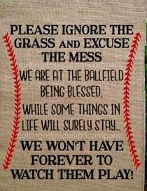 Amen to that! One more year of softball for this softball/baseball family, baseball finished 2 years ago almost.