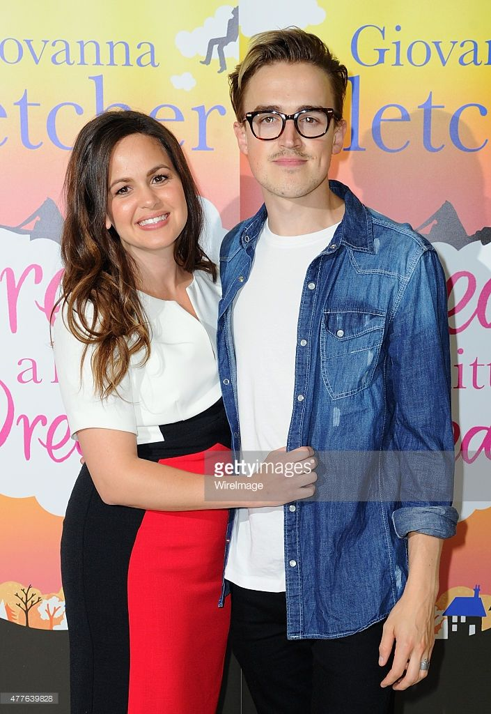 Giovanna Fletcher and Tom Fletcher attend the launch of her book 'Dream A Little Dream' at on June 18, 2015 in London, England.