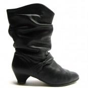Leren jaren 80 vintage laarzen doortje