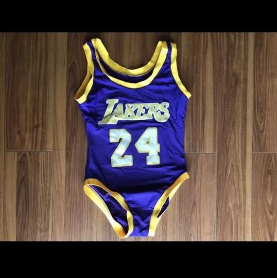 Kobe Bryant Lakers Basketball Jersey Bodysuit Ready To Ship Kobe Bryant Bryant Lakers Kobe