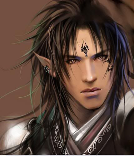 Black Haired Male Elf | Name: Zaiden Shi'ntock