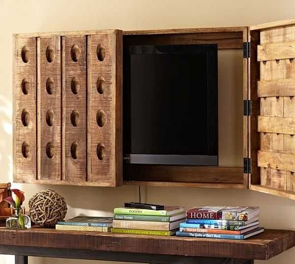 Superb Tv Hidden In Wall Part - 10: 21 Modern Interior Design Ideas For Displaying And Hiding Your Flat TV