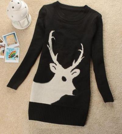 Зимние женские свитера с оленями